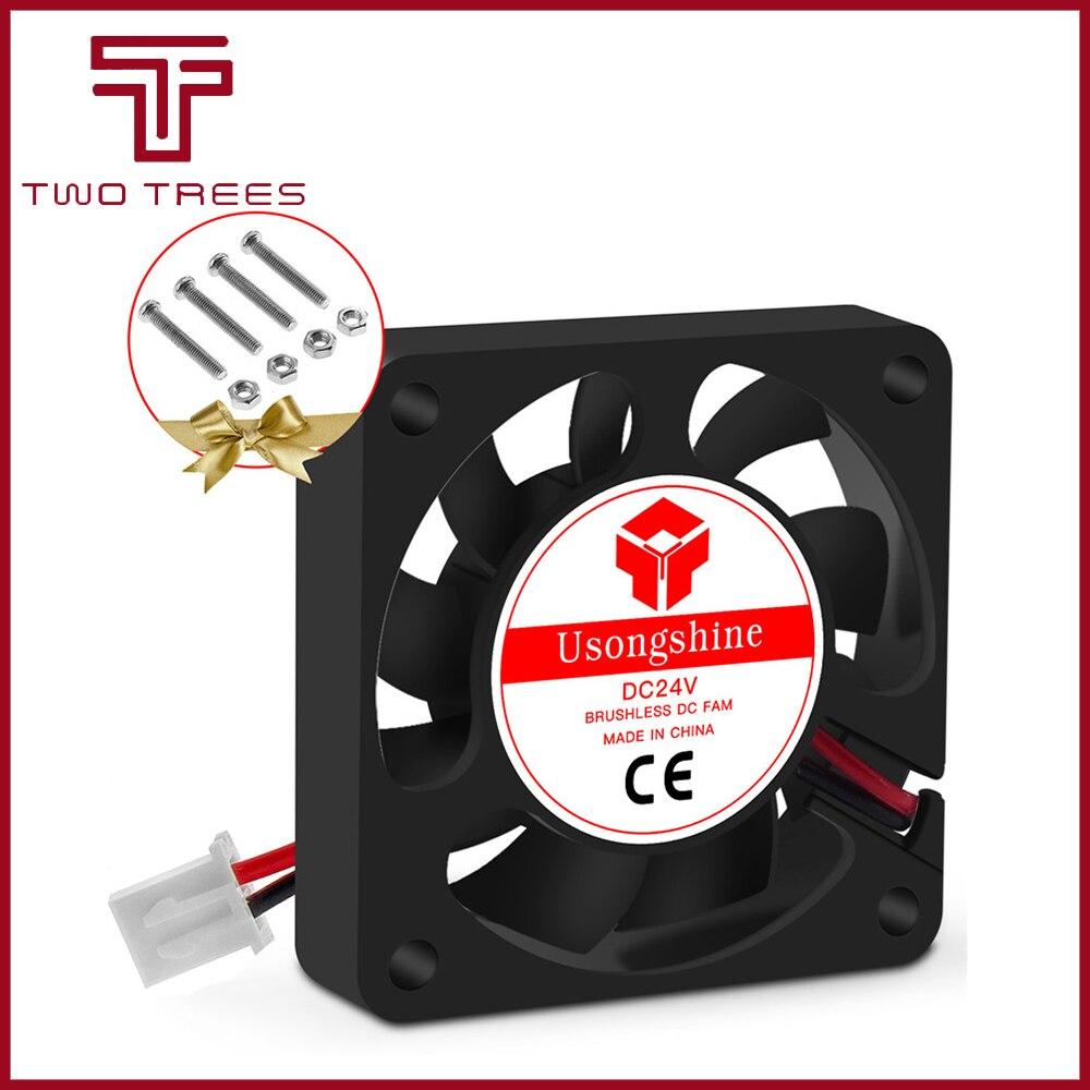 5010 Вентилятор охлаждения 12 в 50 мм крутые 3D принтеры части 2 pin бесщеточный 5 см DC вентиляторы кулер часть радиатора 50*50*10 мм тихий аксессуар