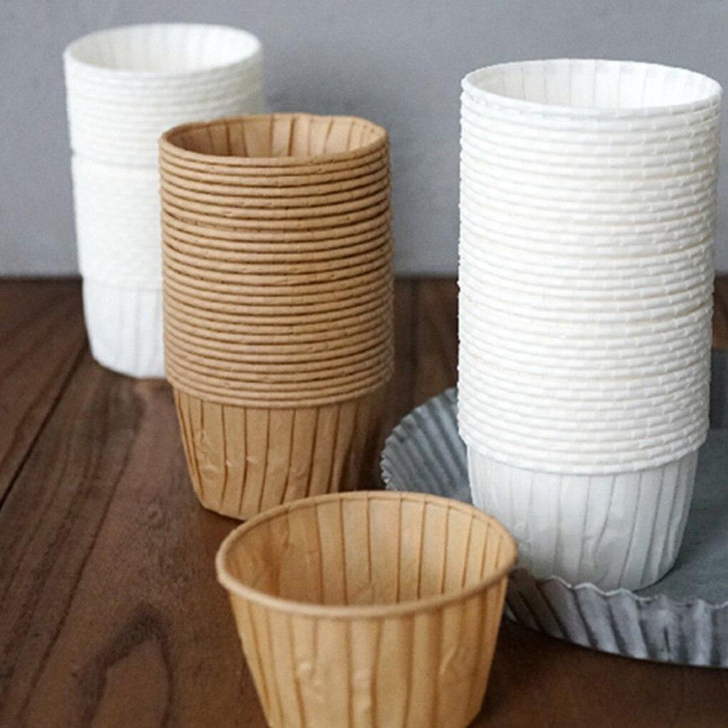 Calor Magdalena resistente forro redonda de papel para hornear taza horno doméstico para cocina Accesorios
