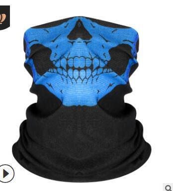 wholesal 2000pc/lot Skull Design Series Scarf Variety Tube Half Face Mask Halloween Headband Bandana Headwear Bicycle Head Scarf