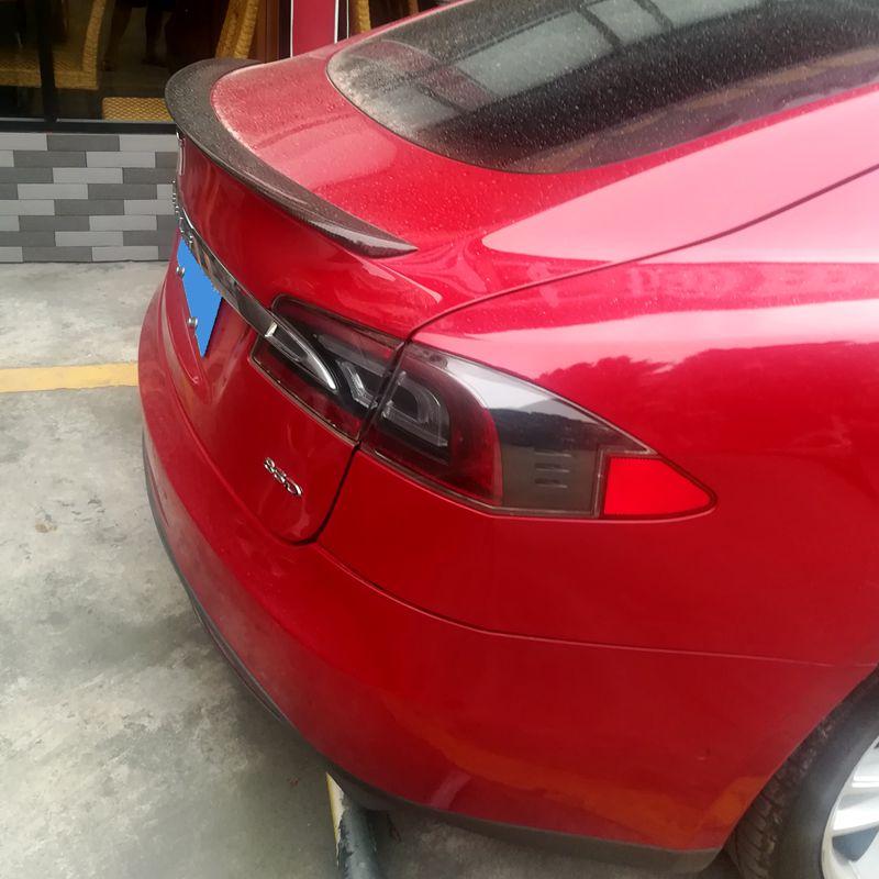 UBUYUWANT para Tesla modelo S 2012-2017 alerón FRP Material Primer Color alerón trasero de decoración de coche para P85D P90D P100D