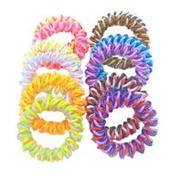 wholesale 100pcs size 5cm braid rope telephone wire accessories women rubber bands girl hair gum
