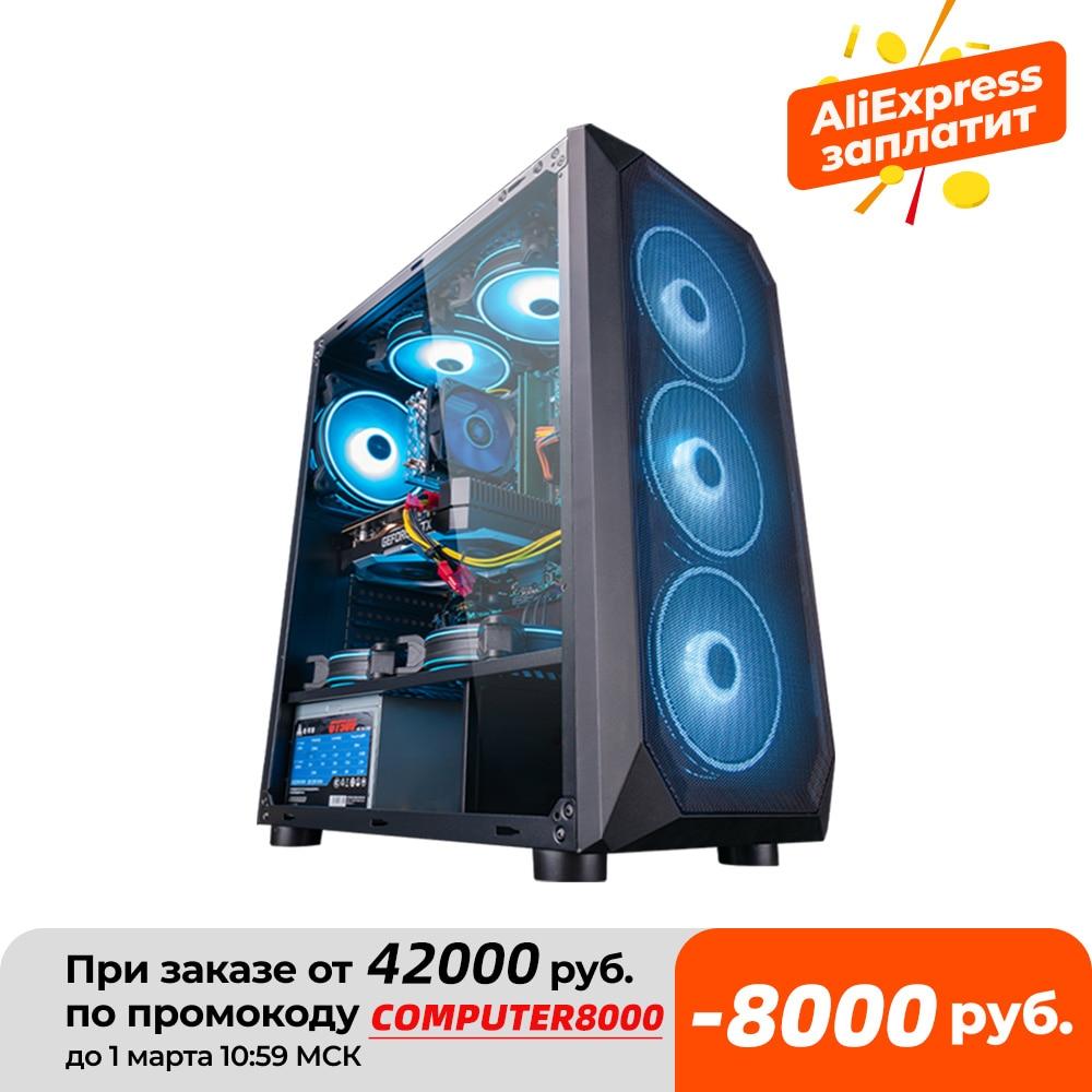 Intel Assembled Desktop Computer Intel Xeon E5-2650L 8-Core/RX560/GTX960 4G/16G RAM 240G SSD Cheap Gaming High Performance PC
