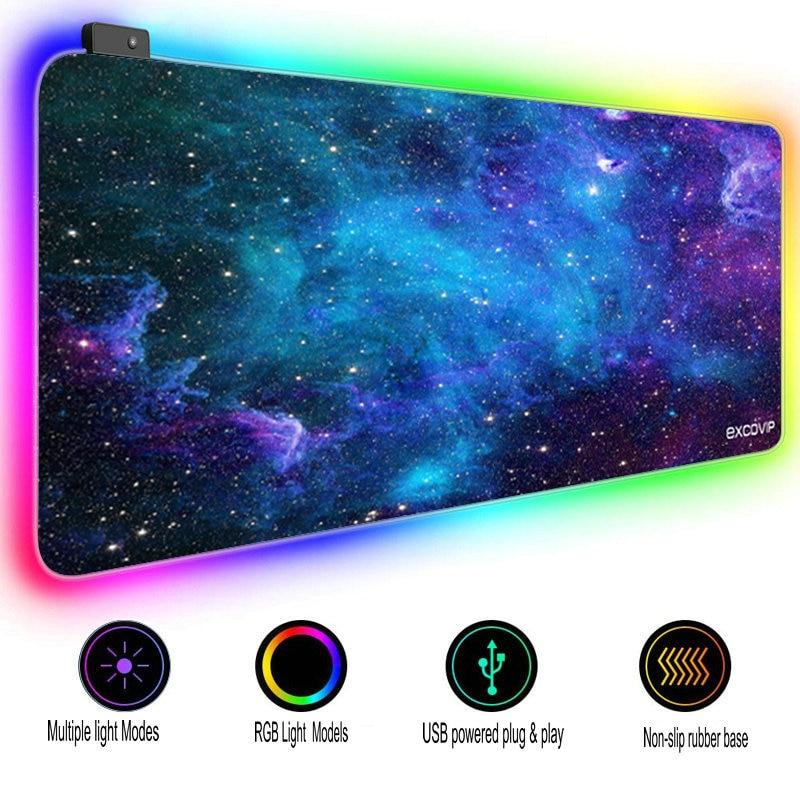 RGB الألعاب ماوس الوسادة Led الإضاءة ماوس حصيرة كبيرة الألعاب بساط للمكتب غطاء لوحة مفاتيح الكمبيوتر السجاد عدم الانزلاق قاعدة لعبة Mousepad