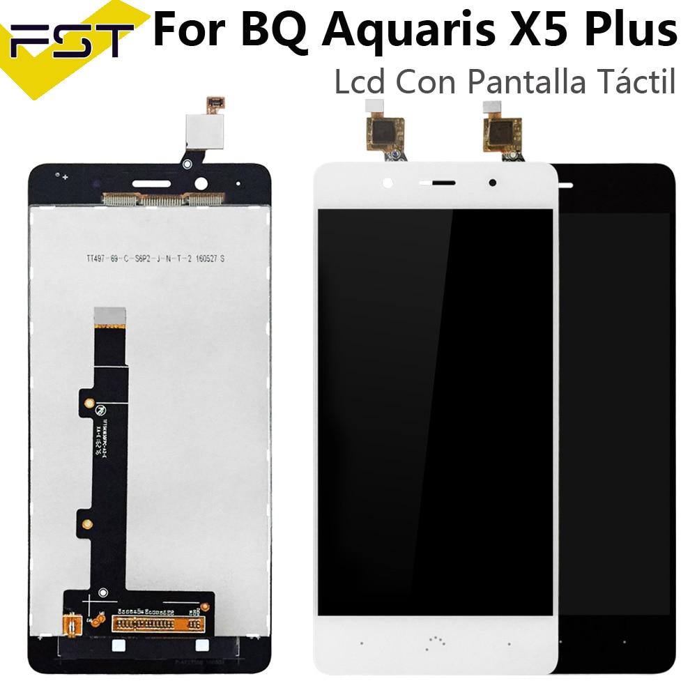 Negro/blanco para BQ Aquaris X5 Plus Pantalla LCD + Pantalla táctil LCD digitalizador Panel de cristal LCD Panel táctil para X5 Plus Pantalla