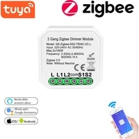 Tuya Smart Wifi Dimmer Switch Without Neutral Relay Smart Home Automation Module Compatible With Remote Control Alexa Google