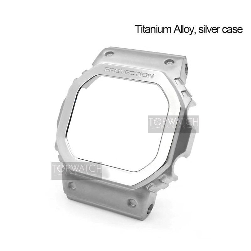 Titanium Alloy Watch Strap Band Bezel For DW5600 GW5000 GW-M5610 Camouflage Bracelet Cover With Tools Supper Light for CasiOak enlarge