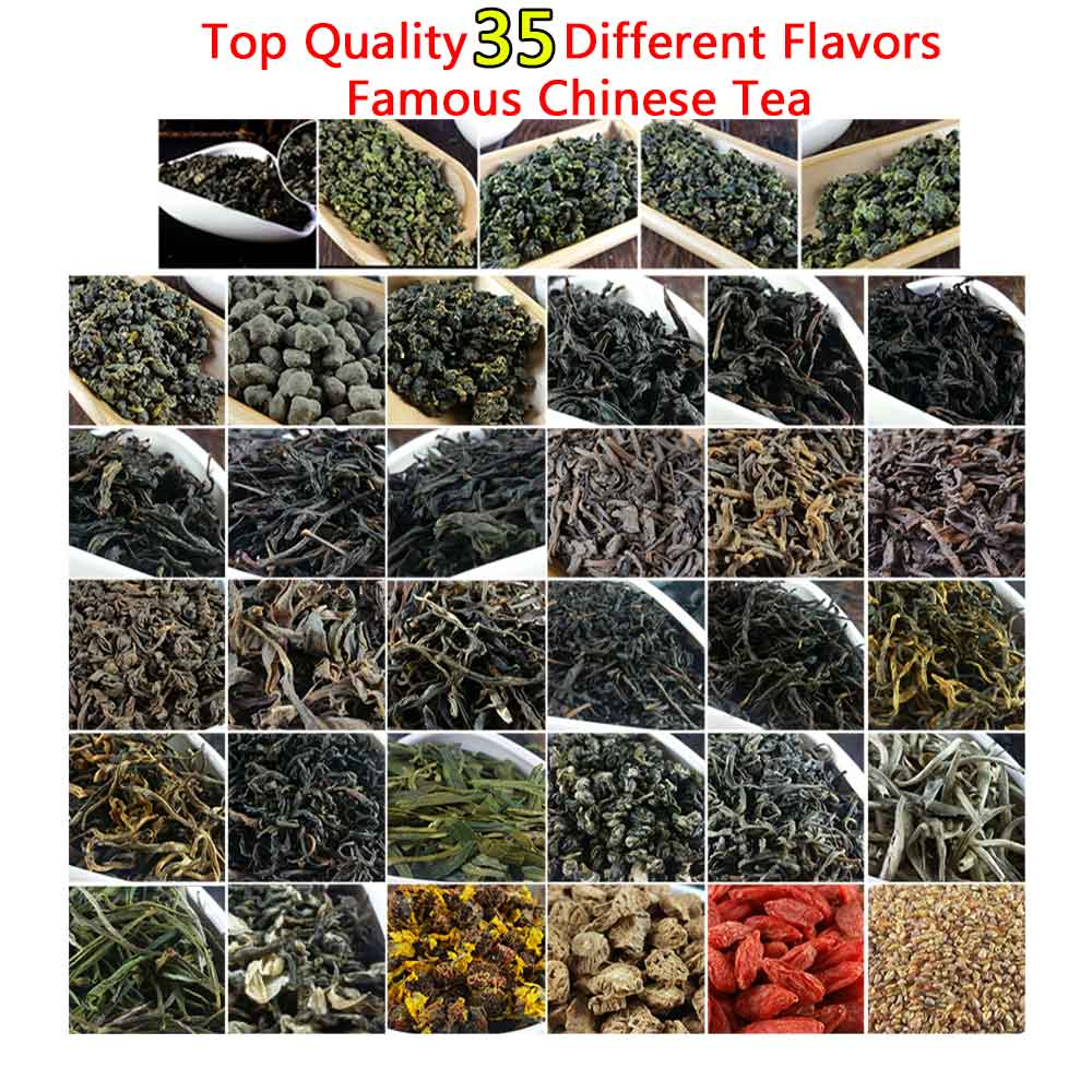 35 Different Chinese Tea Including Oolong Pu-erh Black Green Herbal Flower Tea Gift 209.2g Premium Quality Tea