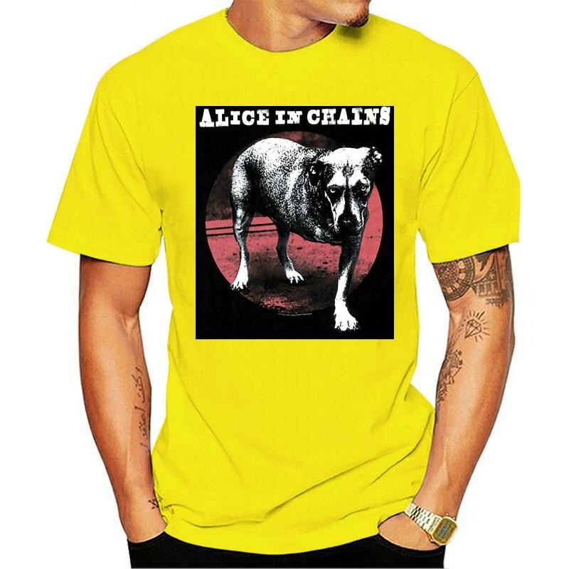 Camiseta alice em cores amarelos preto nova adulto aic masculino feminino 2021