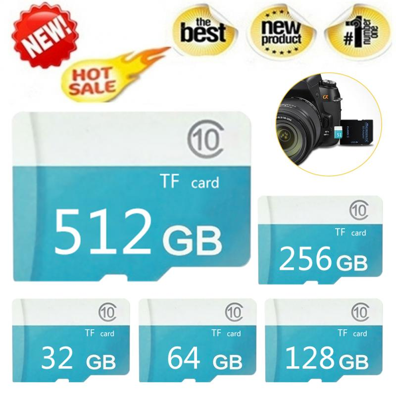 1PC Flash Card TF Card Class 10 Flash Memory Card Microsd 1/2/4/8/16/32/64/128/256/512GB For Laptop