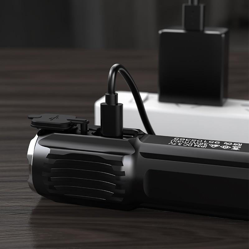 Strong Light Flashlight Rechargeable Waterproof High Power Flashlight LED Multi Function Zoom Portable Lanterna Lighting EB50SD enlarge