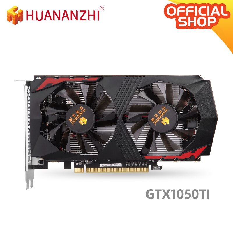 HUANANZHI GTX 1050TI 4G graphics card 128Bit GDDR5 DVI DP HDMI-Compatible 14Nm 768nits GTX 1050TI 4G