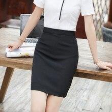 IZICFLY Autumn Summer Style Formal Office Skirts Womens Slim Pencil Plus Size Black Business Korean Mini Skirt Plus Size 6XL 7XL