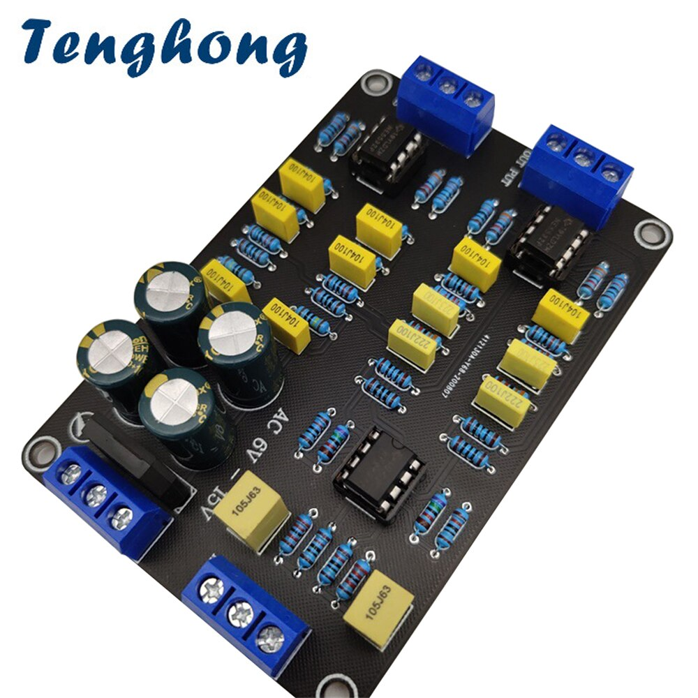 Tenghong 2 stücke 2 Weg Aktive Crossover Filter Höhen Bass Audio Lautsprecher Frequenz Teiler Mit NE5532 Pre-chip Für geändert Audio