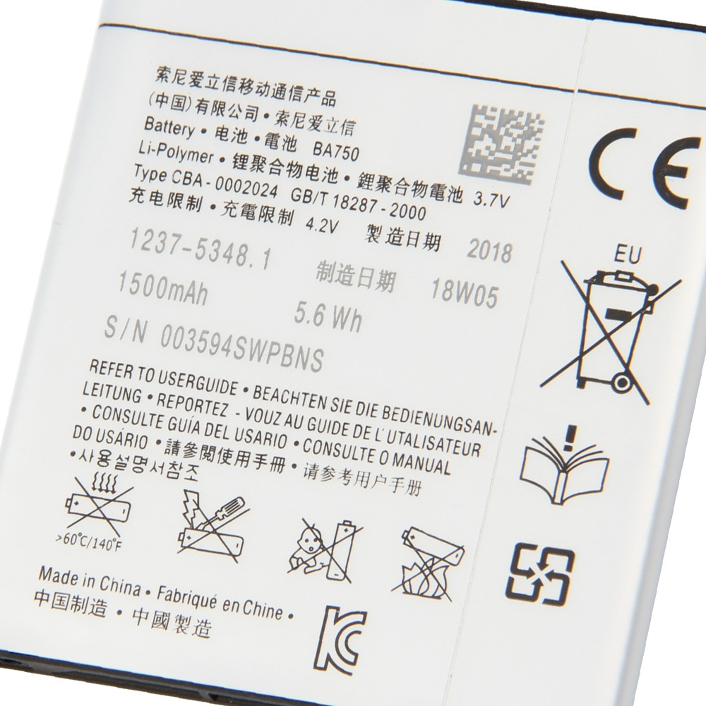 Original Sony Battery For SONY Xperia Arc S LT15i X12 LT18i X12 BA750 1460mAh Authentic Phone Replacement Battery enlarge