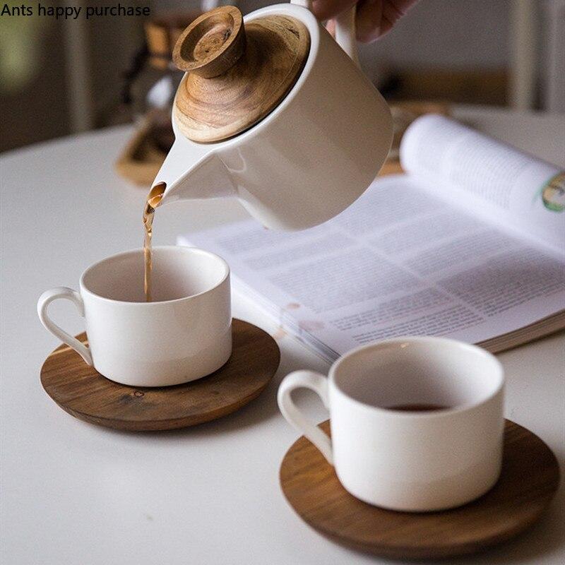 European Ceramics Tea Set Household Living Room Leisure Coffee Cup Coffee Pot Coffeware Sets Afternoon Tea Set Three-piece Suit