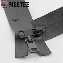 Accesorios de costura para chaqueta Meetee, 2 uds., 20-150cm, 5 #, de nailon Invisible, resistente al agua, doble cabezal, cremallera de extremo abierto, DIY