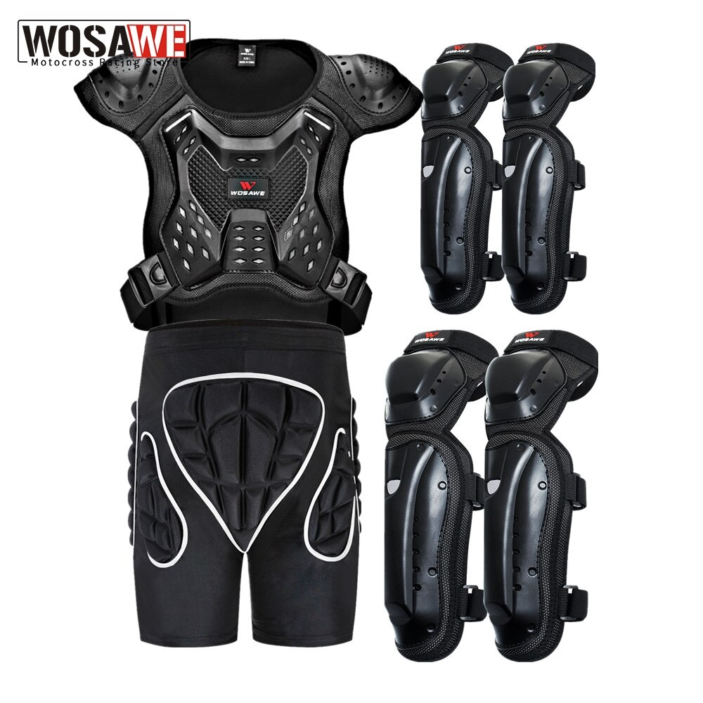 WOSAWE Adult's Motorcycle Jacket Racing Armor Protector Snowboard Motocross Body Protection Riding MOTO Jacket Protective Gear wosawe motorcycle jacket full body armor back chest protector motocross racing clothing riding protective gear moto protection