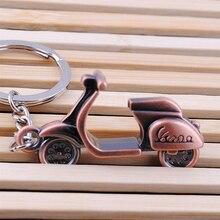 Hot البيع الكلاسيكية ثلاثية الأبعاد دراجة نارية سكوتر قلادة كيرينغ المفاتيح مفتاح سلسلة حلقة الموضة الإبداعية للرجل امرأة هدية دروبشيبينغ