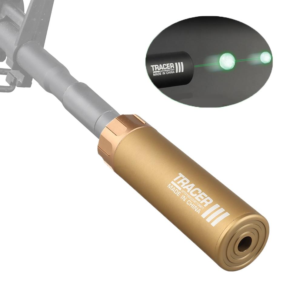 Пейнтбол Авто Tracer Тактический легче для 14 мм Пейнтбол глушители для съемки в стиле игры страйкбольный пистолет светится в темноте