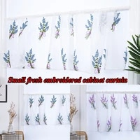 new embroidered short curtains good looking bouquet curtains polyester translucent curtains fresh beautiful home decoration