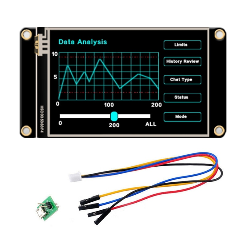 أفضل شاشة LCD الصحافة ل Nextion NX4832K035 HMI USRT TFT LCD 3.5 بوصة واجهة الإنسان تعزيز وحدة