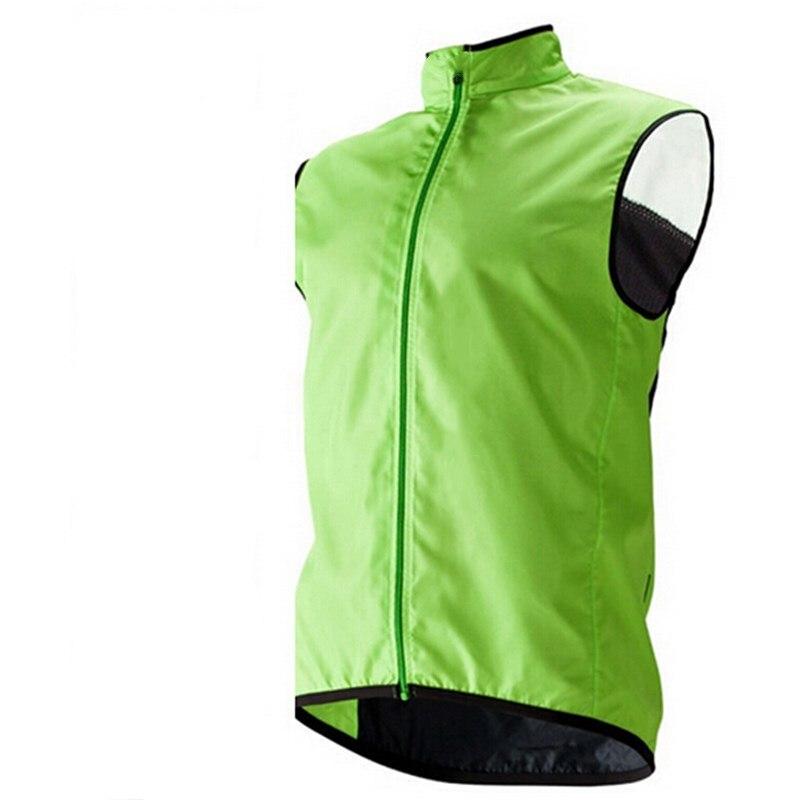 Jaqueta à Prova de Vento Bicicleta sem Mangas Roupas de Bicicleta Estrada à Prova Verde Ciclismo Coletes Camisa Cabolsa Esportes Dwaterproof Água