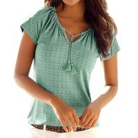 Women's Bohemian t shirt Print Top Beach Summer Shirt Holiday t-shirt women Casual Summer Tee shirt