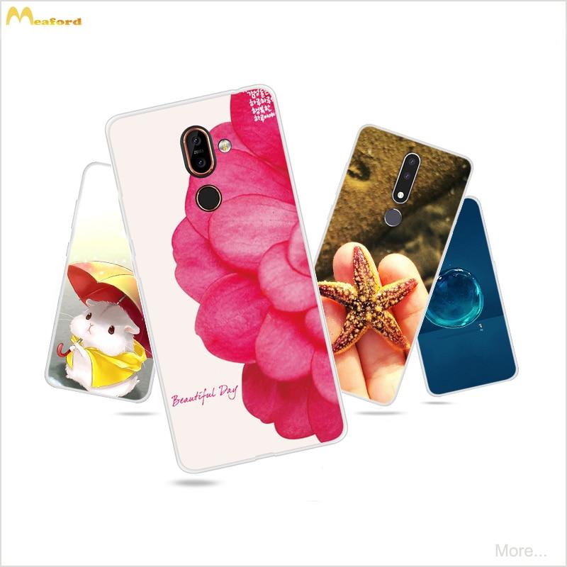 For Nokia 3.1 plus Case Silicone Phone Soft Cover For Nokia 2.3 CaseS Cute FlowerS For Nokia 7 Plus Case For Nokia X71 Nokia3.1
