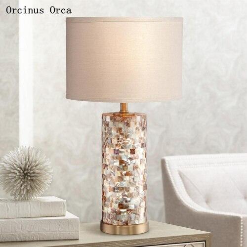 مصباح مكتب LED أبيض فاخر على الطراز الأمريكي ، مصباح بجانب السرير لغرفة النوم والدراسة ، مصباح مكتب مزخرف بسيط ورومانسي