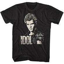 Billy Idol autoportret męska koszulka Punk Rock okładka albumu sztuka koncert Tour topy koszulka odzież uliczna moda