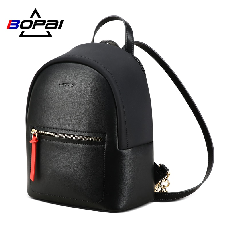 Мини-рюкзак BOPAI для женщин, черный деловой Модный повседневный мини-рюкзак с джокером, школьная сумка для женщин, 2020
