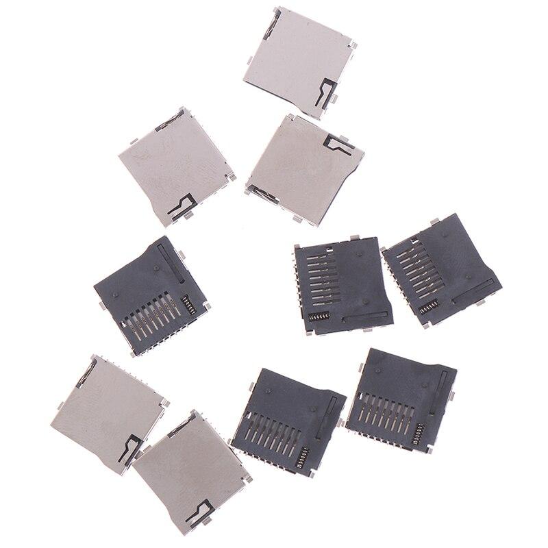 10 шт. Push-Push Тип TransFlash TF Micro SD карты гнездо адаптера автоматический разъем печатной платы