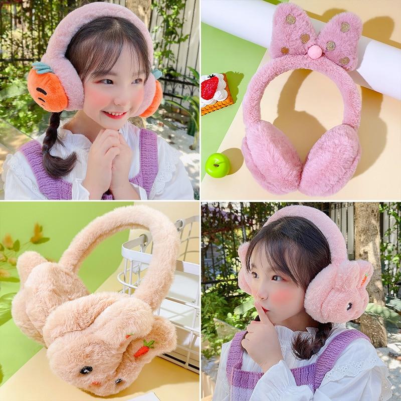 2021 New Soft Fur Hairbands Keep Warm Earmuffs Headbands for Girls Children Women Winter Outdoor Cold Protection Ear Muff Cover