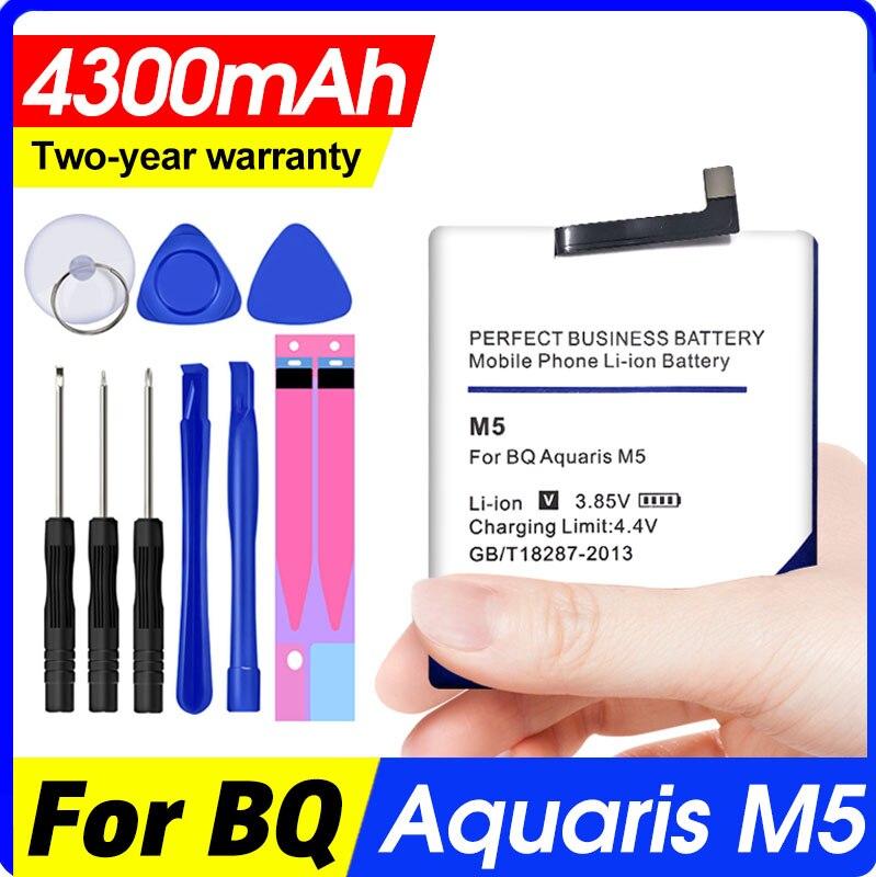 Batería de alta calidad para BQ Aquaris 4300, 3120 mAh, 3120 M5,...