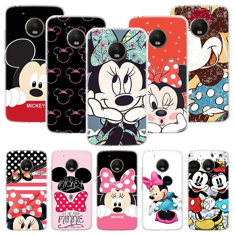 Funda de teléfono personalizada Minnie Mouse Girls para Motorola Moto G7 G8 G6 G5S G5 E6 E4 E5 Plus Power G4 Play X4 One Action EU