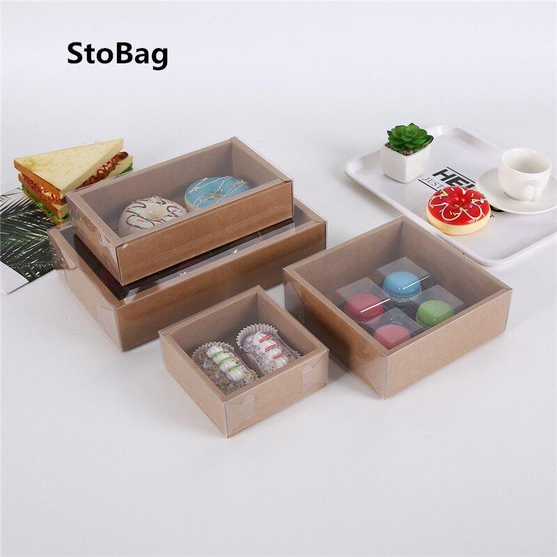 Caixa de Papel de Embalagem de Bolos Caixa de Papel Transparente para Decorar Feita em Casa Caixa de Presente de Natal para Evento Lembranças de Festa Alimentos Biscoitos Bolos Rosquinha