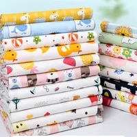 pure cotton knitted fabric a class no fluorescent agent children cartoon printed for sewing baby clothes bedding by half meter
