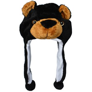 JOYHY Kids Cartoon Animal Hat Cute Black Bear Plush Winter Warm Hats Caps Children Boys Girls Halloween Cosplay Christmas Beanie