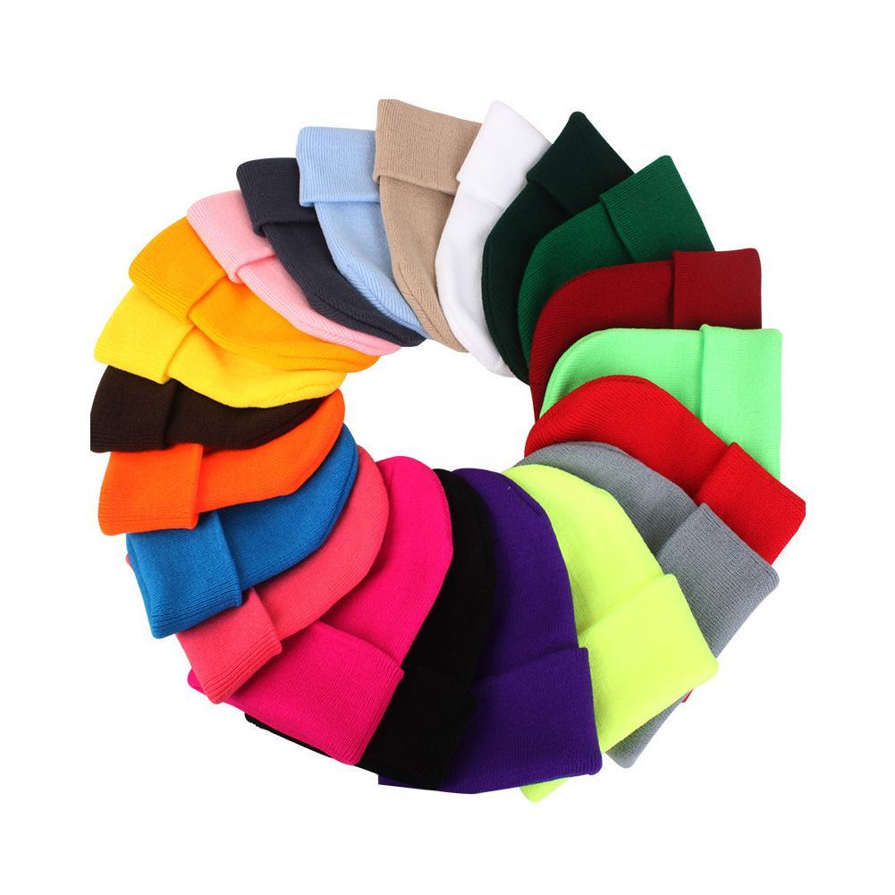 Unisex Beanie Autumn Winter Wool Blends Soft Warm Knitted Cap wholesale bonnets  gorras de invierno