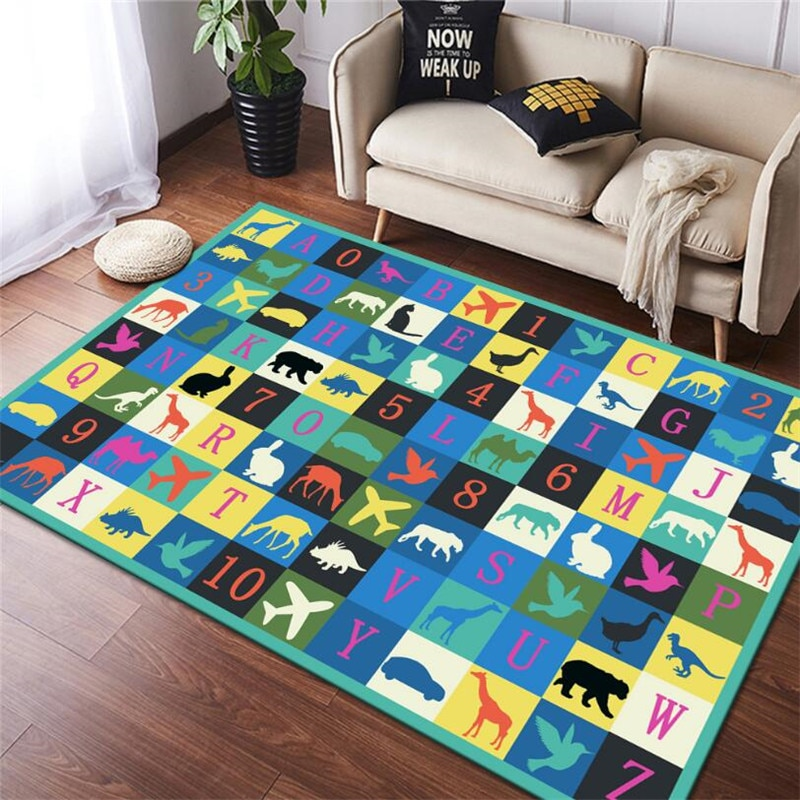 christmas baubles printed skid resistant rug Animal Alphabet Game Carpet 3D Printed Carpet Square Anti-Skid Area Floor Mat Rug Non-slip Mat Dining Room Living Soft Carpet