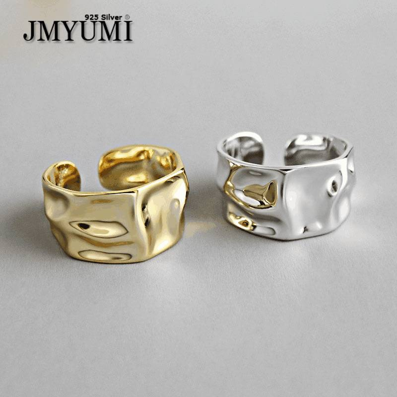 JMYUMI 925 пробы серебряные обручальные кольца для женщин парные модные нестандартные геометрические ювелирные изделия ручной работы подарки ...