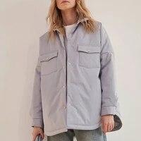 spring solid front pockets women fashion tie belt coats women elegant collar cotton jackets female ladies