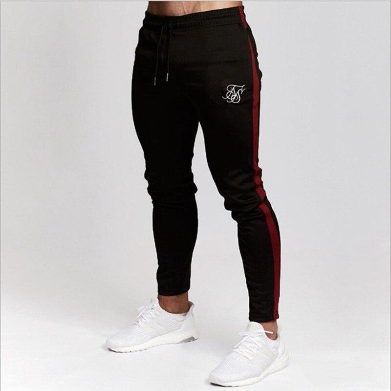 Mens Joggers Sweatpants Sik Silk Fitness Elastic Trousers Hip Hop Skinny Tracksuit Siksilk Pant Men Casual Silk Silk Track Pants