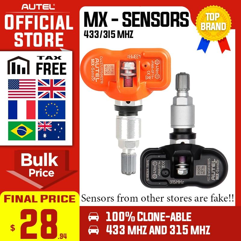 Más Autel MaxiTPMS PAD Sensor TPMS programación dispositivo accesorio y Autel 2 en 1 MX-Sensor 433MHz 315MHZ programador Universal