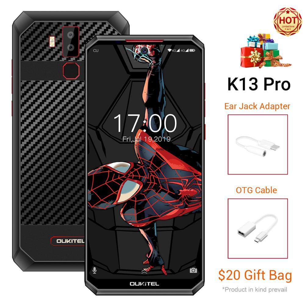 Мобильный телефон OUKITEL K13 Pro, Android 9,0, экран 6,41 дюйма 19,5: 9, MT6762, 4 Гб ОЗУ 64 Гб ПЗУ, 5 В/6 А, 11000 мАч, OTA NFC, смартфон со сканером отпечатков пальцев