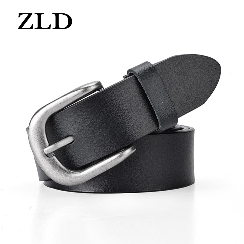 ZLD Fashion genuine leather Quality Women's belt vintage alloy pin buckle Strap Personalized leisure All-match jeans ladies belt