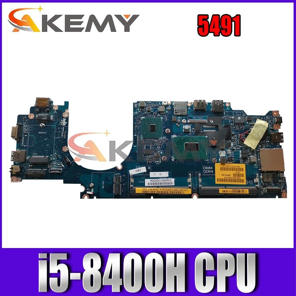 Akemy العلامة التجارية جديد i5-8400H لديل خط العرض 5491 اللوحة المحمول DDP70 LA-F701P CN-04HYMM 4HYMM اللوحة 100% اختبار