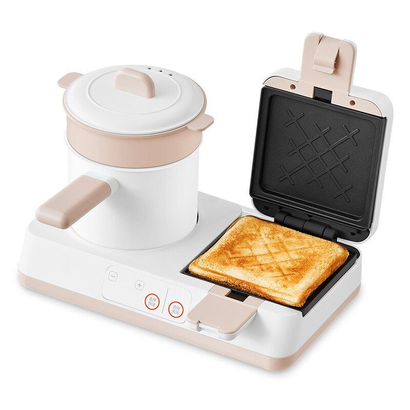 4 In 1 220V Electric Sandwich Breakfast Maker Bread Toaster Multifunctional Cooking Pot Household Multi Cooker EU/AU/UK/US