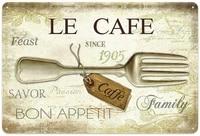 la cafe retro metal tin sign plaque poster wall decor art shabby chic gift