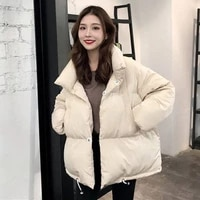 cotton padded clothes female winter short bread clothes student korean version thickened loose cotton padded jacket